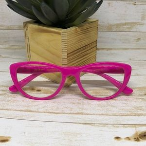 Betsey Johnson cat eye hot pink readers